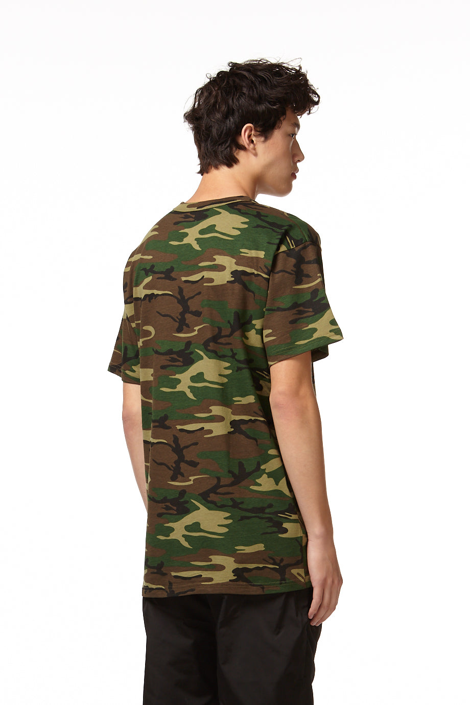 H4X CAMO T-SHIRT green camo back