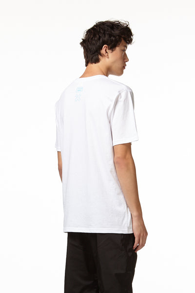 CRIMSIX ROBOT T-SHIRT BACK WHITE