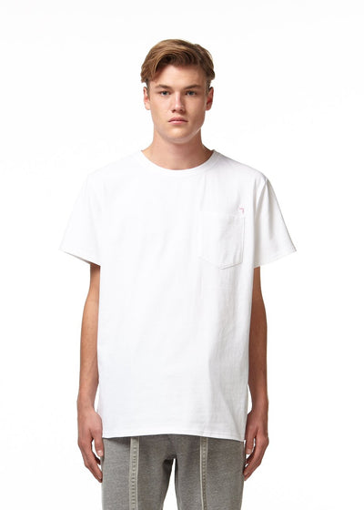 H4X 3D Loose Fit Pocket T-Shirt white front