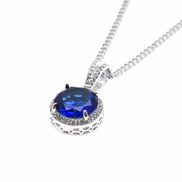 Circle Gem Micro Diamond Necklace