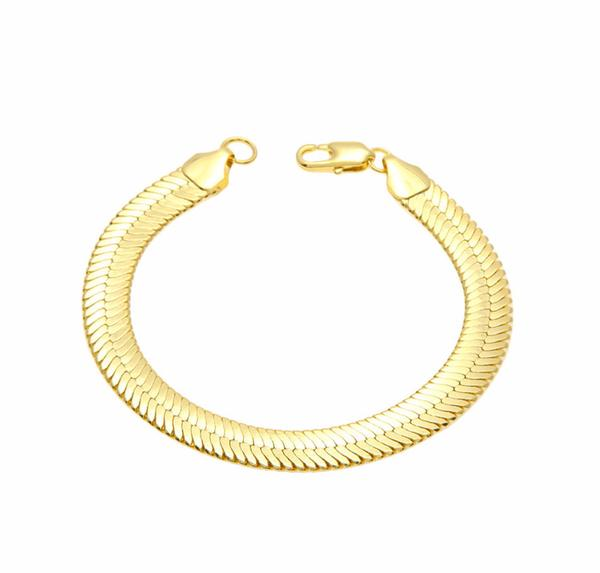 10MM Gold Herringbone Bracelet
