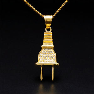 Plug Micro Diamond Necklace