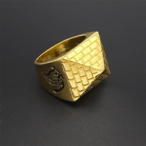 Gold Egyptian Pyramid Ring
