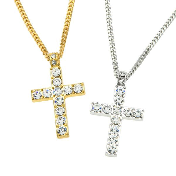 Cross Micro Diamond Necklace