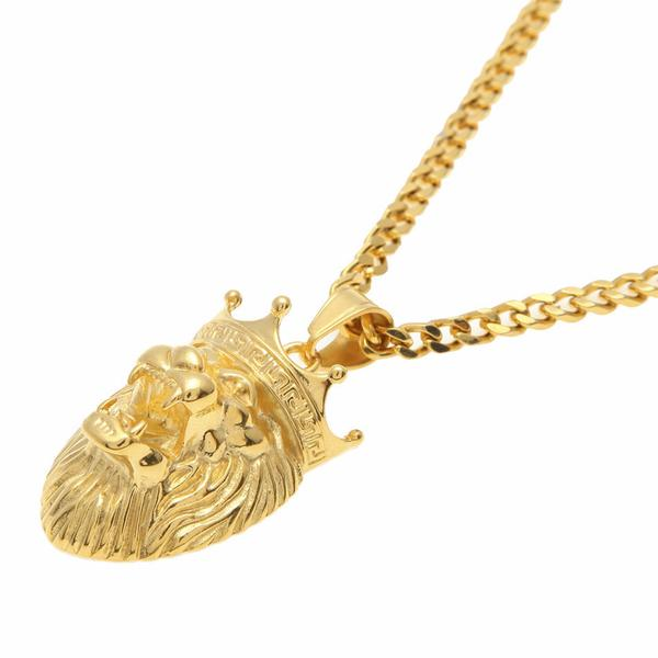 Gold Crowned Lion Necklace