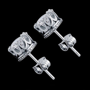 Crown Micro Diamond Earrings