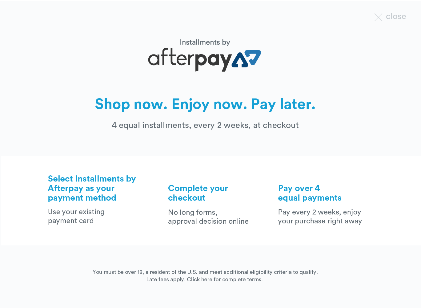 Afterpay – Karla and Co