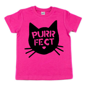 PURRFECT Toddler/Kids Regular Tee - That Oregon Girl