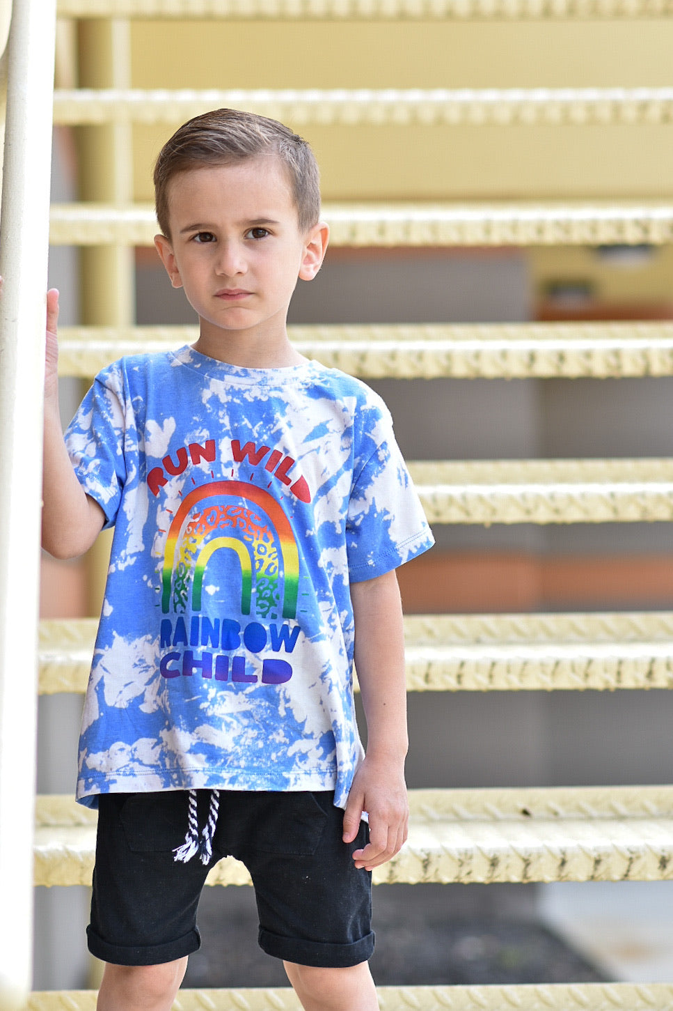 Run Wild Rainbow Child Acid Washed Rainbow - Toddler/Kids Tee