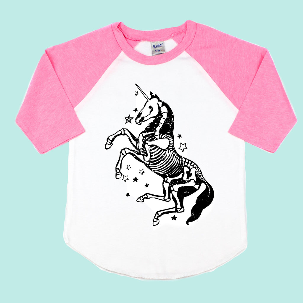 Skelecorn Toddler/Kids Unisex Raglan Tee - That Oregon Girl
