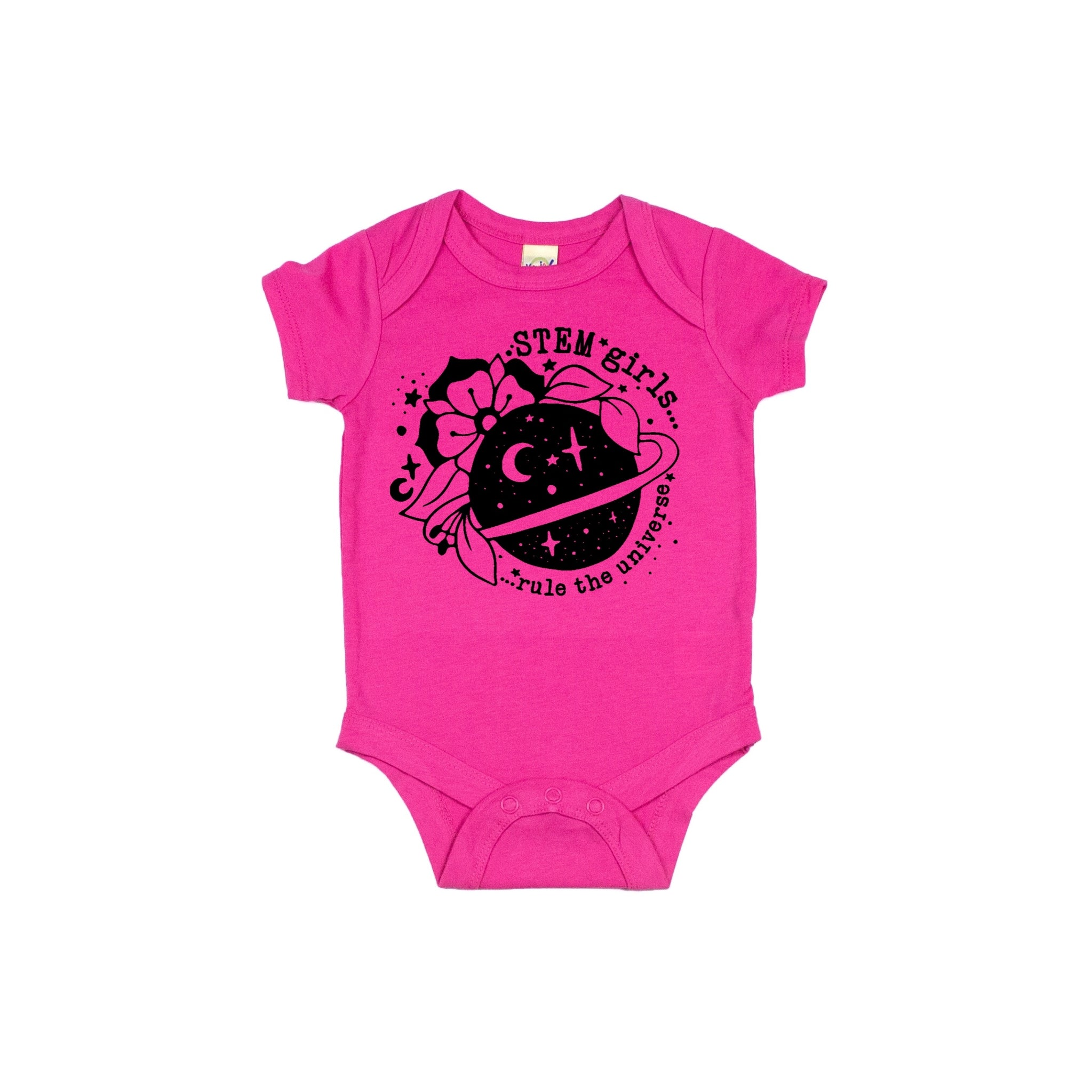 STEM Girls Rule the Universe Infant Onesie