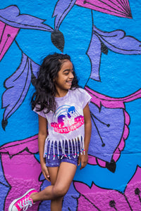 My Little Feminist Acid Washed Toddler/Kids Tee