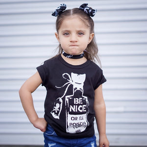 Be Nice or I'll Poison You Toddler/Kids Regular Tee - That Oregon Girl