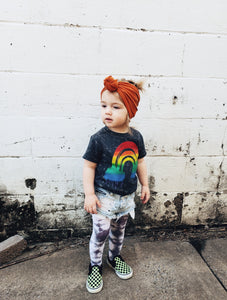 Rockin' Over the Rainbow Mineral Washed Tee - That Oregon Girl
