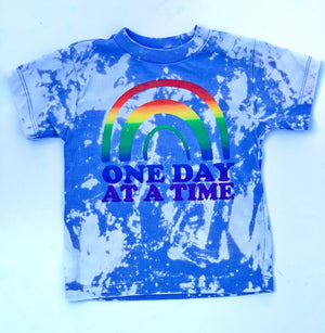One Day At A Time Acid Washed Rainbow - Toddler/Kids Tee - That Oregon Girl