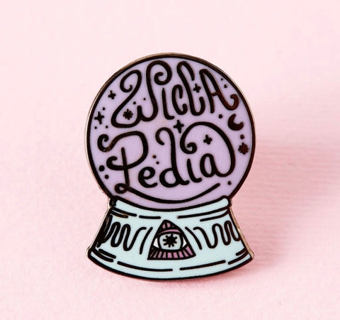 Wiccapedia Crystal Ball Enamel Pin - That Oregon Girl