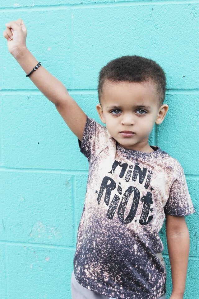 Mini Riot Acid Washed Toddler Tee - That Oregon Girl