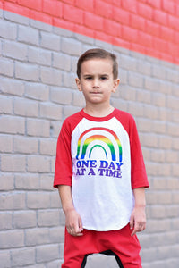 One Day At A Time Rainbow Toddler/Kids Tee