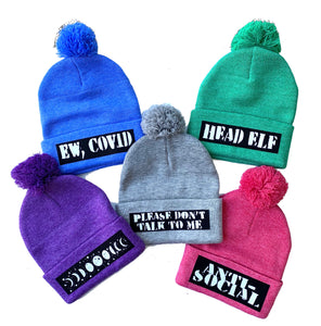 Customized Adult Beanie (Multiple colors and phrases)