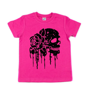Rosy Skull Toddler/Kids Tee - That Oregon Girl