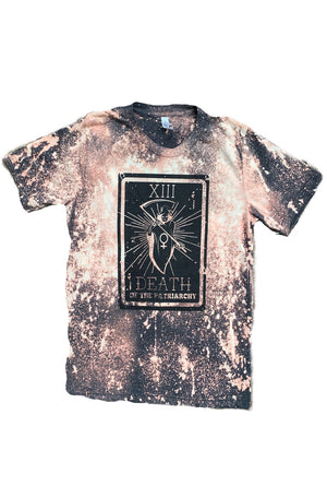 Death of the Patriarchy Tarot Card Acid washed Unisex Adult Tee - That Oregon Girl