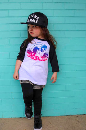 My Little Feminist Color Ombré Raglan - That Oregon Girl