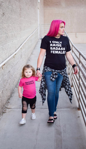 Badass Female Toddler/Kids Tee - That Oregon Girl
