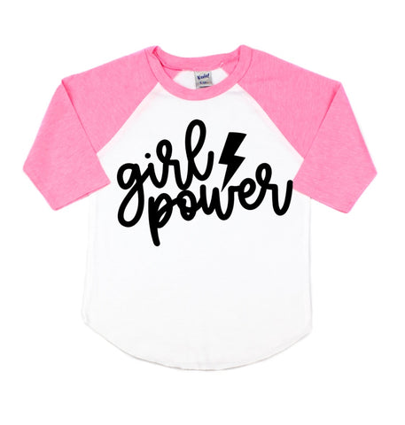 Girl Power Toddler/Kids Unisex Raglan Tee