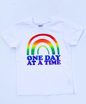 One Day At A Time Rainbow Toddler/Kids Tee - That Oregon Girl