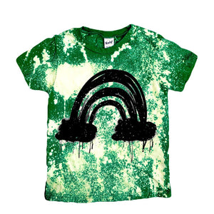 Grunge Rainbow Acid Washed Tee - That Oregon Girl