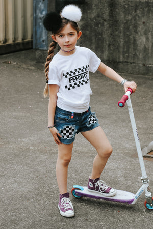Checker Feminist Toddler/Kids Tee - That Oregon Girl