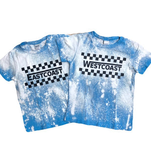 Westcoast Checker Acid Washed Toddler/Kids Tee - That Oregon Girl