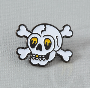 Skull Tattoo Inspired Enamel Pin