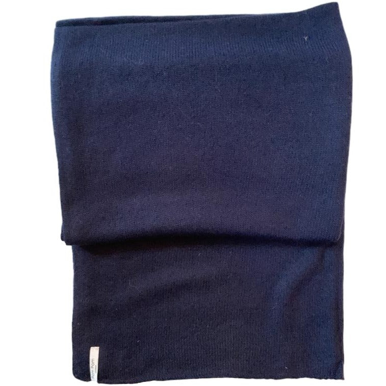 Cashmere Knitted Shawl Navy