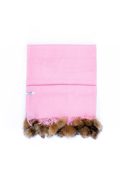 Shawl Pink | Natural Pom Pom - Pom Pom London