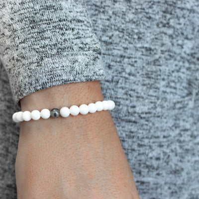 SIGNATURE - WHITE AND GREY 6MM / SILVER
