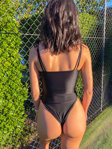 Lola One Piece in Ink Black
