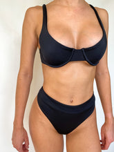 Black Underwire Top - Recycled Fabric