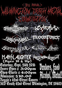 Wilmington Death Metal Convention | September 24 | Reggies 42nd Street Tavern