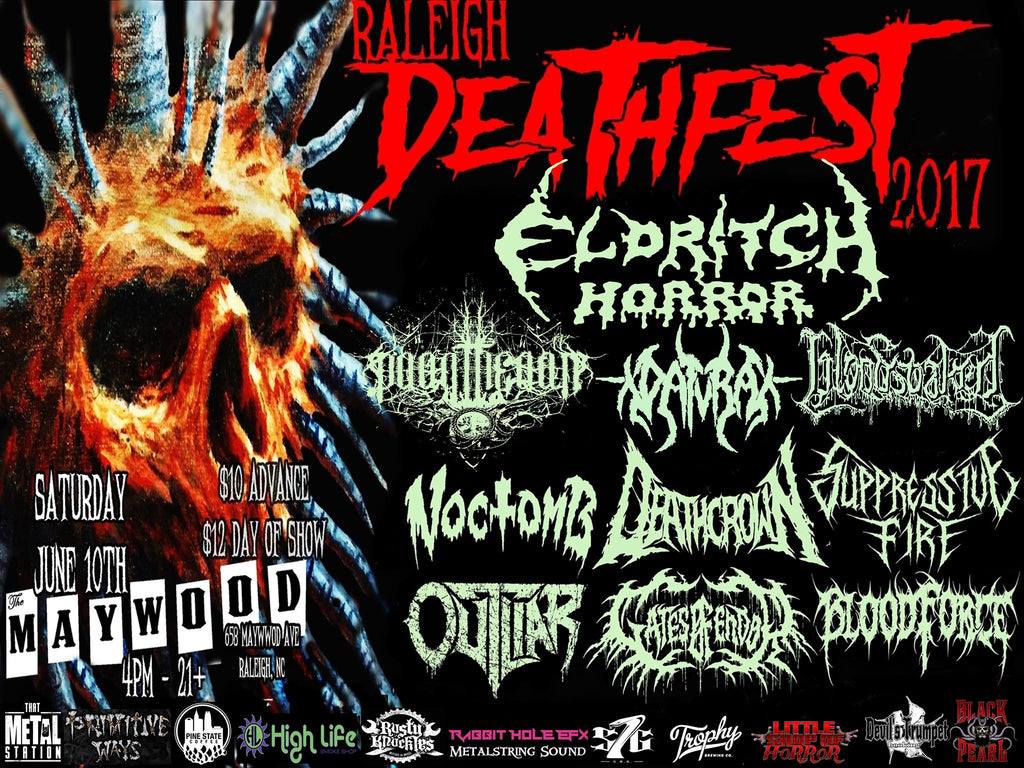 Raleigh Deathfest | June 10 | The Maywood