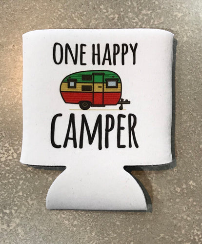 One Happy Camper Can Cooler