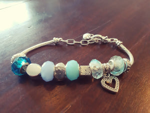 4 shades of blue bracelet