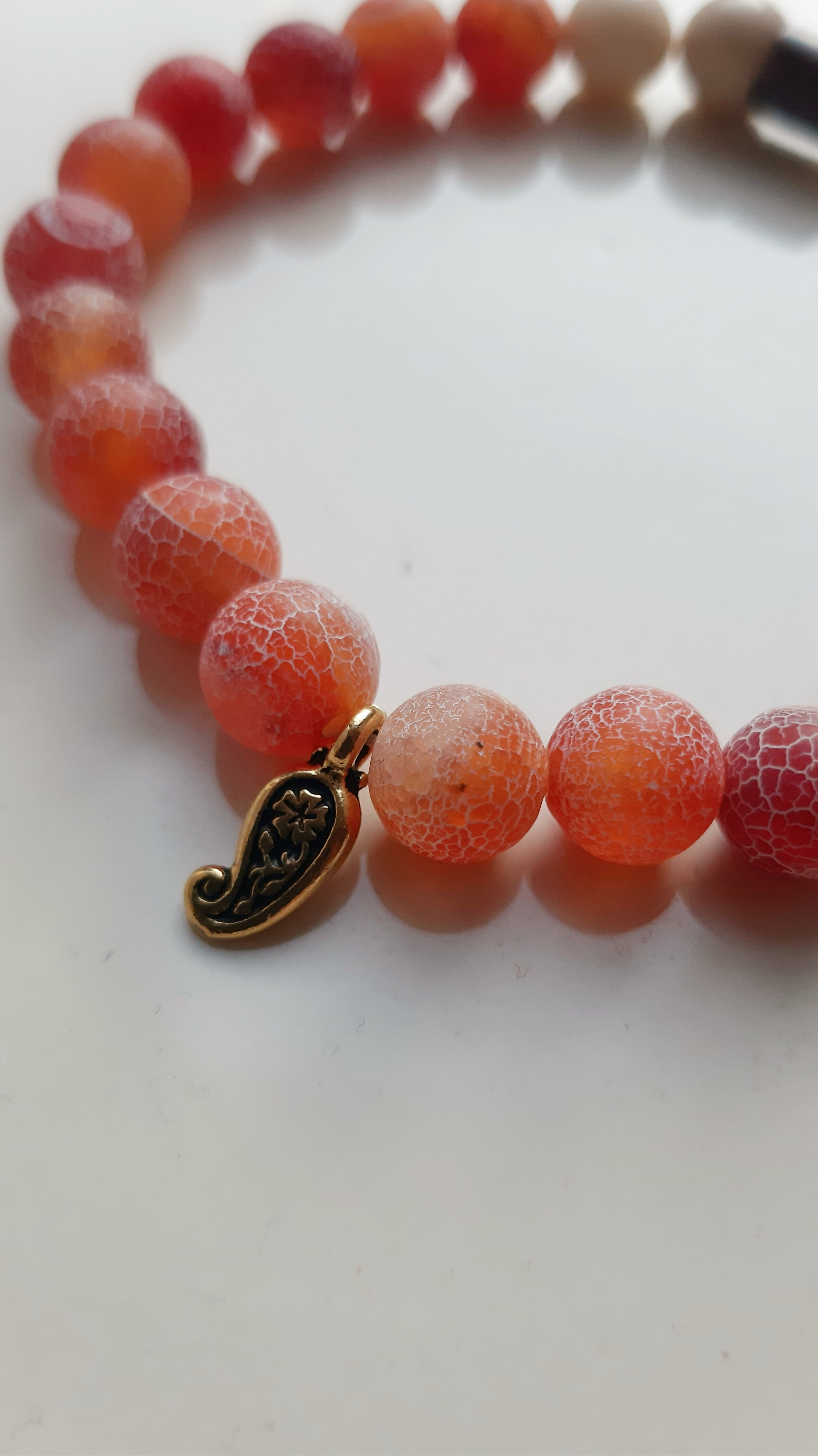Orange Agate bracelet (contact me if you are interested)