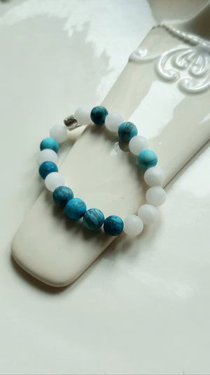 Agate Blue Crackle bracelet