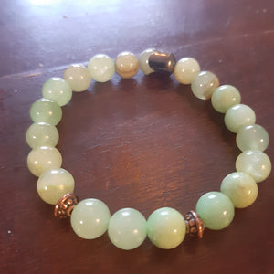 Green Jadeit 8 mm beads
