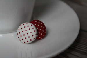 Red and white polka