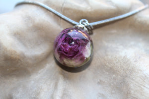 Necklace Rose in a glass (similar piece available in this collection)