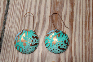 Turquoise evening earrings (please contact me if you are interested)