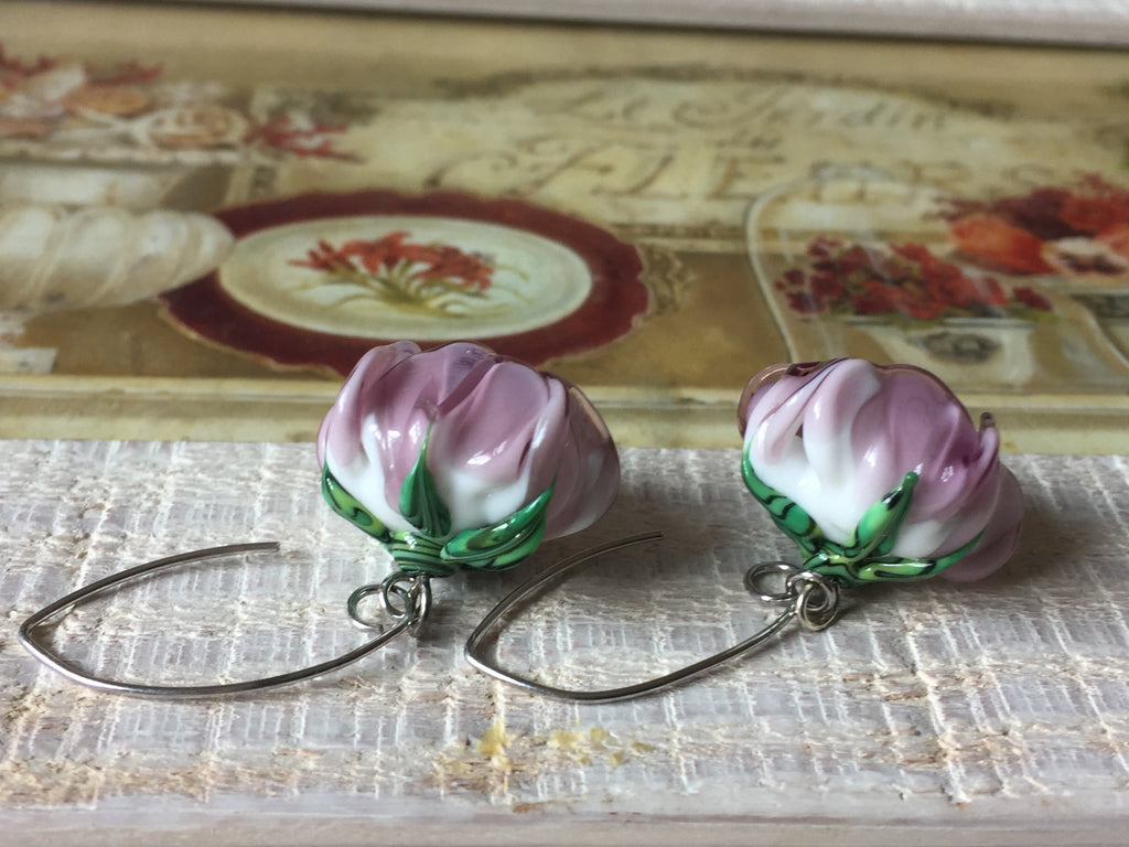 Glass flower earrings II (available on request)
