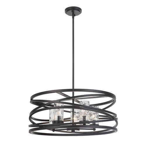 Finley 5 Light Pendant - Bronze and Champagne Finish